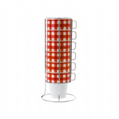 Cup Set Picnic Tower Porcelain Red